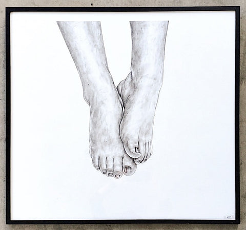 """Feet"" Pencil Drawing/Art"