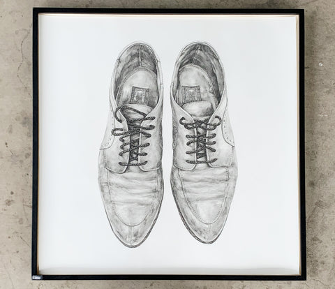 """Oxford Shoes"" Pencil Drawing/Art"
