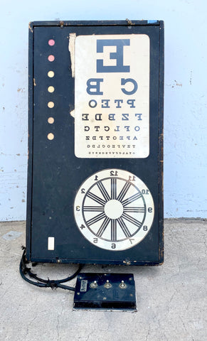 Antique Illuminated Optometry Sign