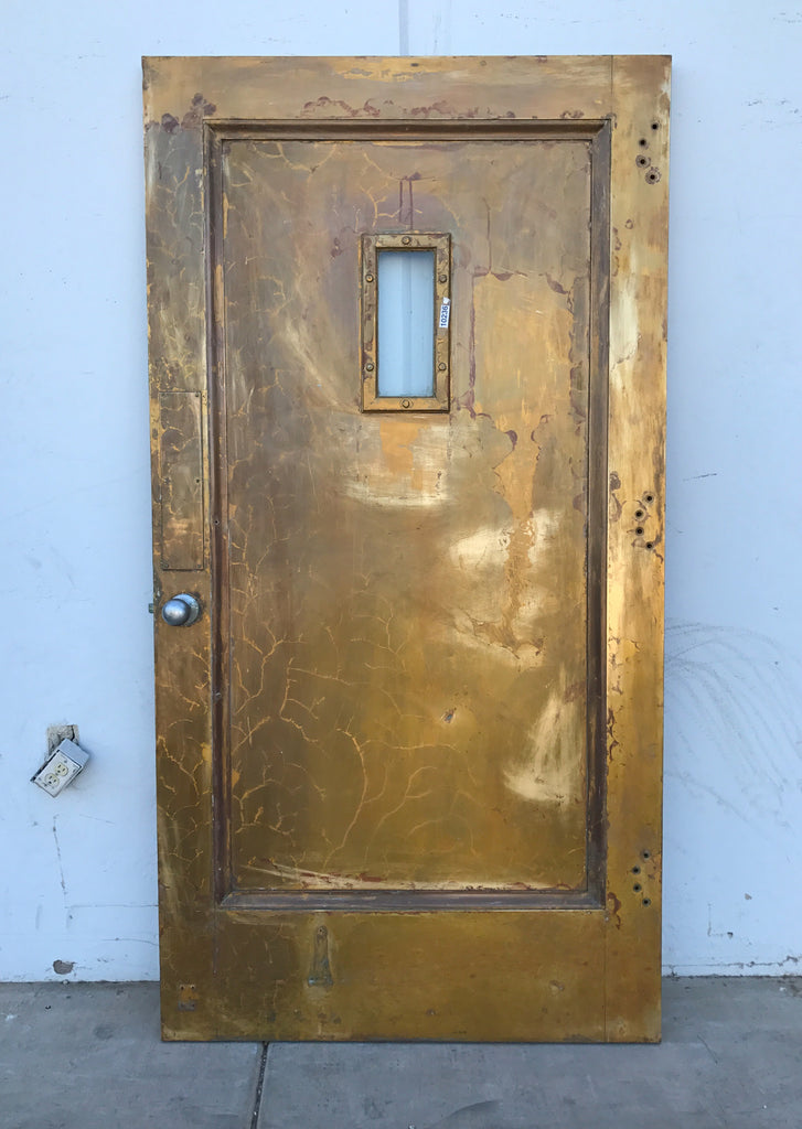Fire Door With Small Glass Panel Antiquities Warehouse