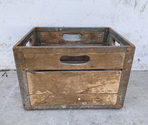 Wooden Dairy Crate