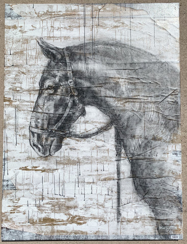 """Black Horse II"" Painting"