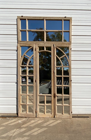 Repurposed Antique Wood Mirror w. Transom
