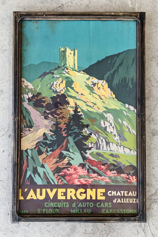 """L'auvergne"" Framed Travel Poster/Art"