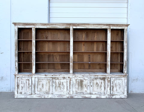 Painted Wooden Bookcase with 16 Shelves