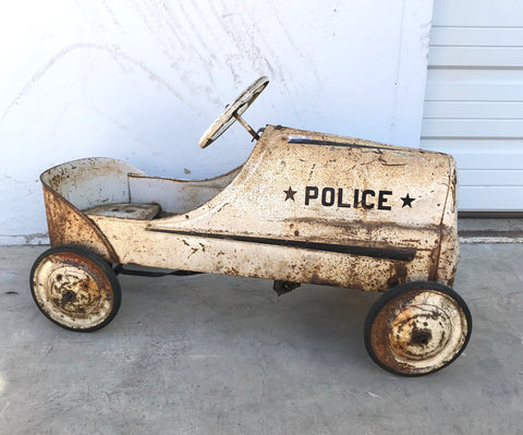 Children's Police Pedal Car