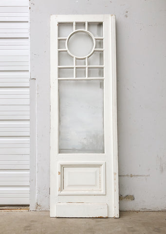 Beveled Glass Door with Circle Pane