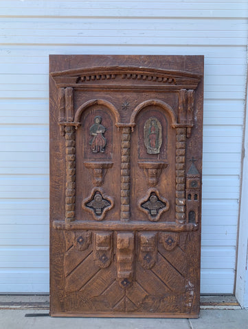 Single Carved Religious Door