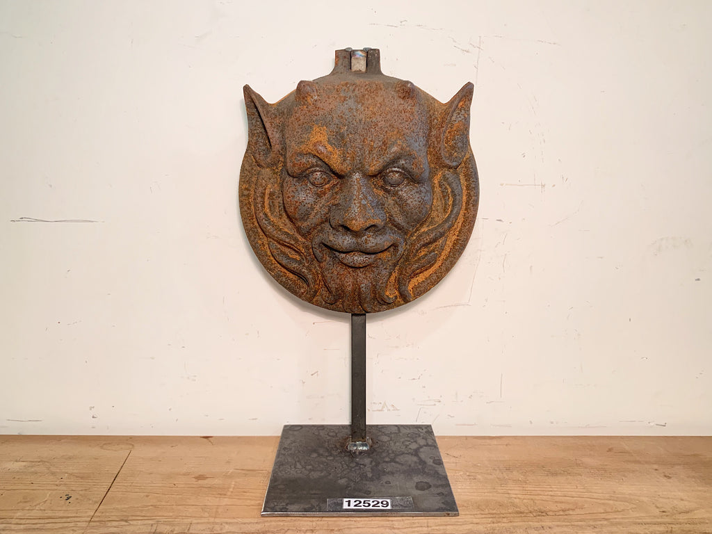 Cast Iron Devil Head on Stand
