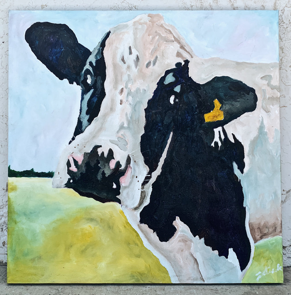 Abstract Cow Painting/Art