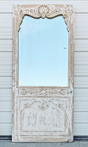Ornate Carved Mirrored Single Door