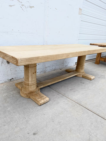 Bleached Wood Dining Table