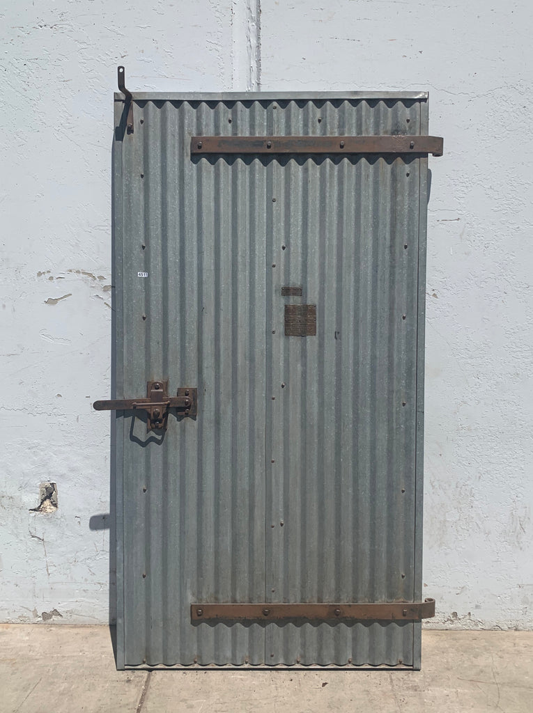 Single Corrugated Metal Fire Door