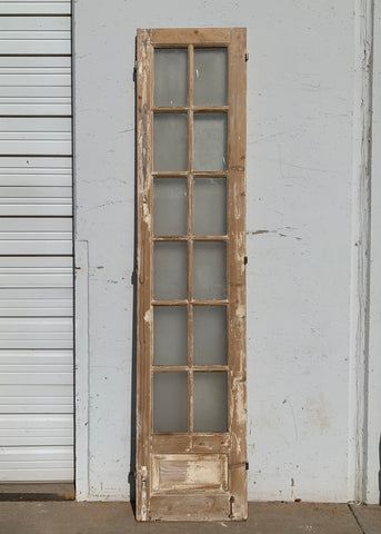 12 Lite Single Natural Wood Antique French Door