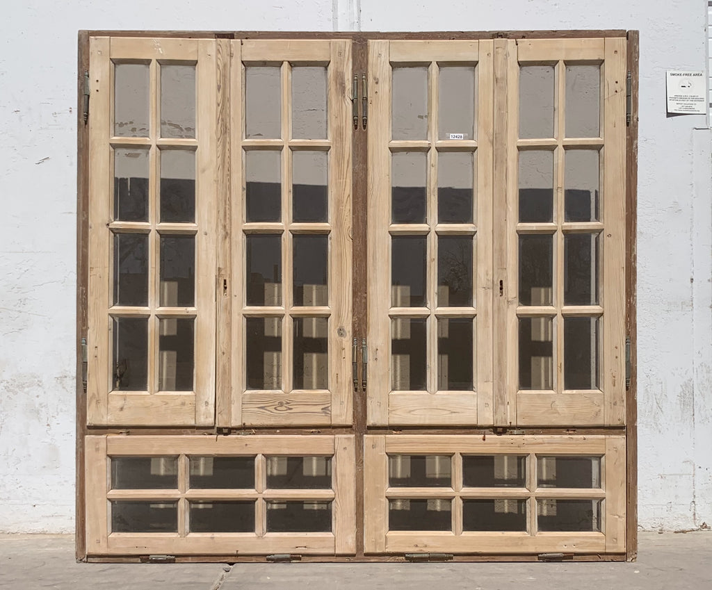 6 Panel Window with Glass in Frame
