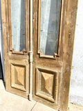 Pair of Wood Doors with Single Glass Panes