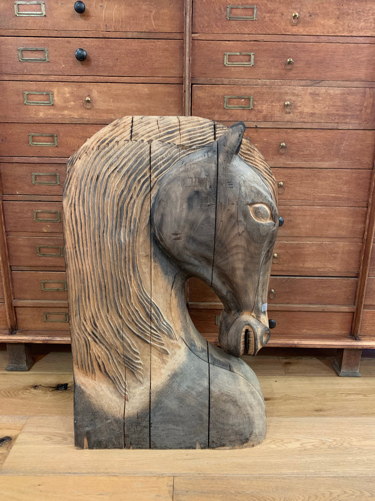 Wooden Carved Horse Head