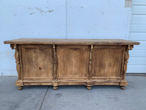 Bleached Wooden Store Counter