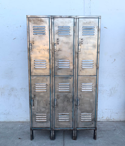 Stripped Set of 6 Half Lockers