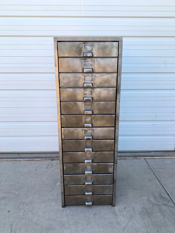 Stripped 13 Drawer Tool Cabinet