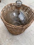 Vintage Wicker Demijohn Wine Bottle