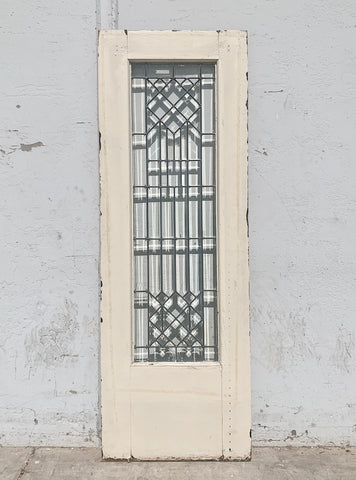 Antique Beveled and Leaded Glass Single Door