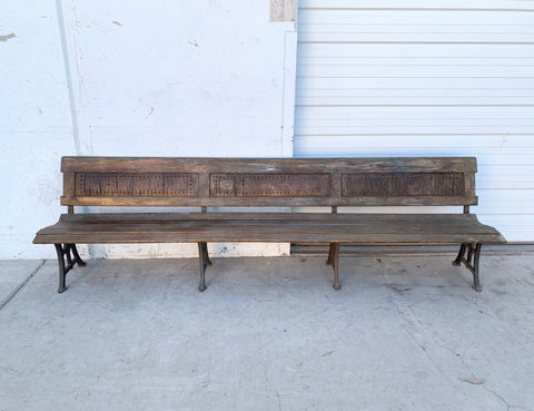 Antique Railroad Bench