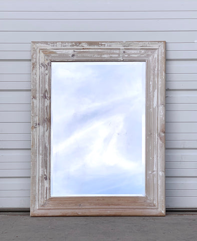 Washed Wood Frame Mirror