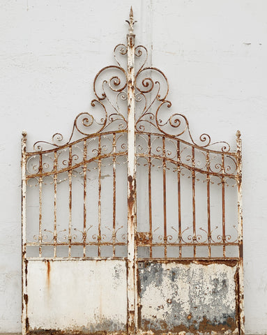 Pair of Ornate French Scrollwork Gates