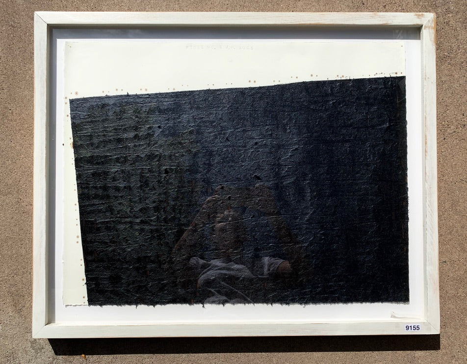 """Wedge No. 2"" Tar Painting/Art"