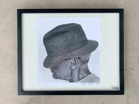 """Man In Hat"" Framed Photograph/Art"