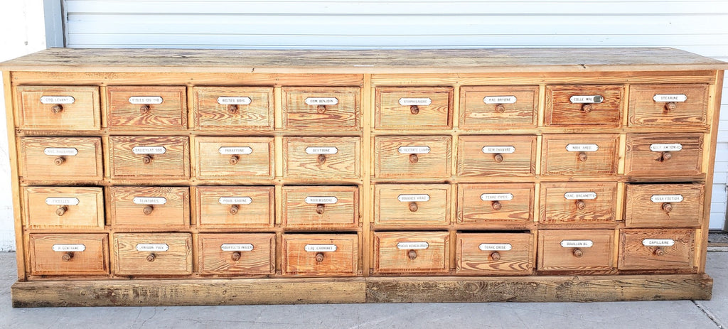 32 Drawer French Apothecary Store Counter