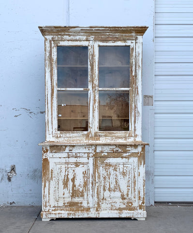 French Painted Hutch/Cabinet