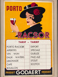 """Porto Rascor"" Framed Wine Advertisement Poster/Art"