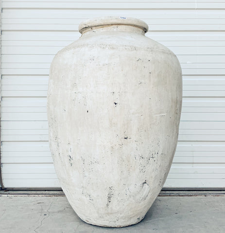 Oversized White Clay Urn