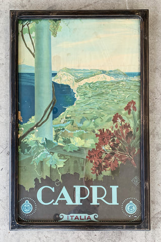 """Capri Italia"" Framed Travel Poster/Art"
