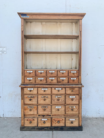 Store Cabinet with 26 Labeled Drawers