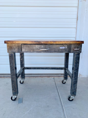 1 Drawer Rolling Island Work Bench