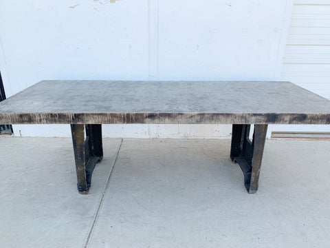 8' Industrial Steel Dining Table