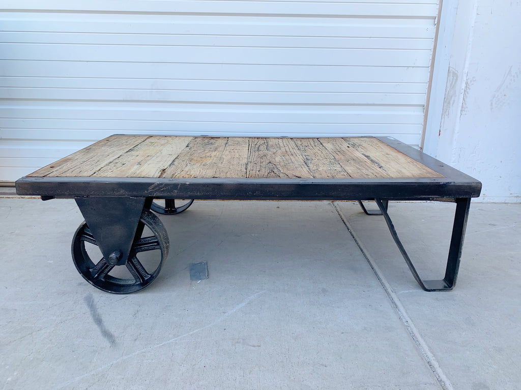 Stripped Trolley / Coffee Table