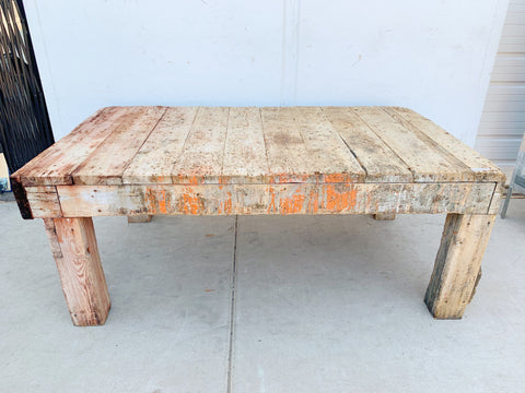 Chunky Wooden Dining Table