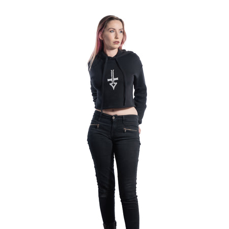 Cross logo ungendered classic zip hoodie - Fully USA made