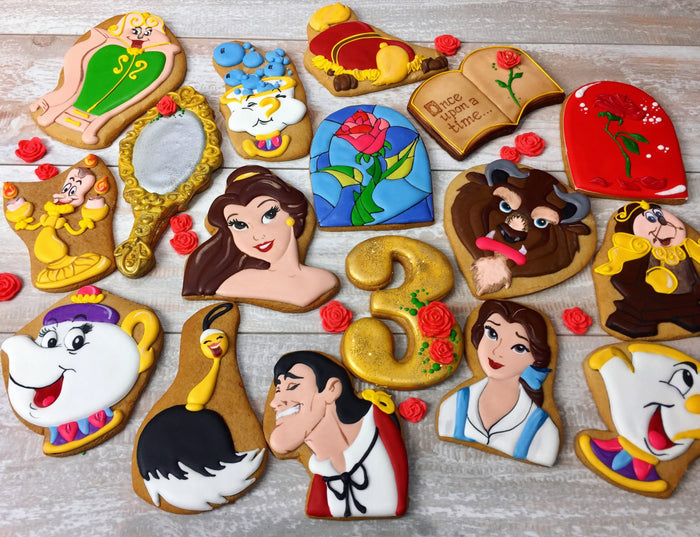 Sophisticated Beauty And The Beast Birthday Party Cookies
