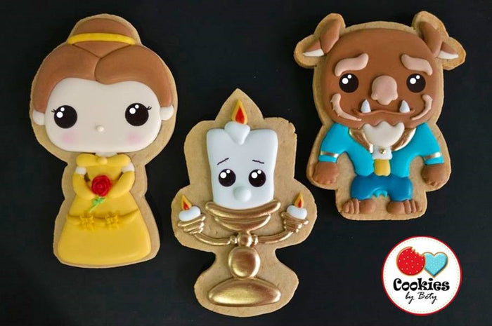 Beauty And The Beast Sugar Cookies TheIcedSugarCookie.com Cookies By Bety