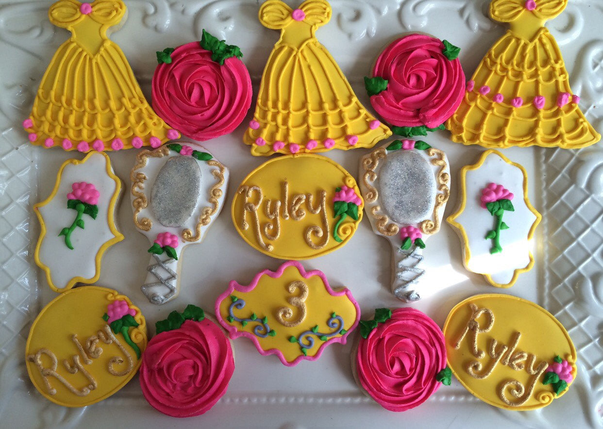 Beauty And The Beast Birthday Party Cookies