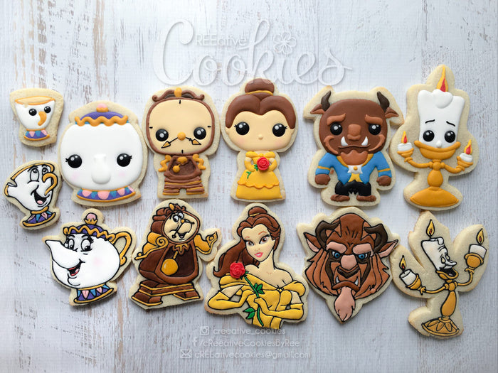 Beauty And The Beast Birthday Party Sugar Cookies