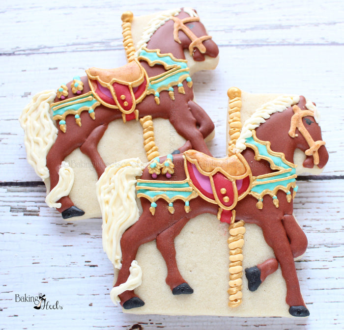 Carousel Horse Birthday Party Sugar Cookies