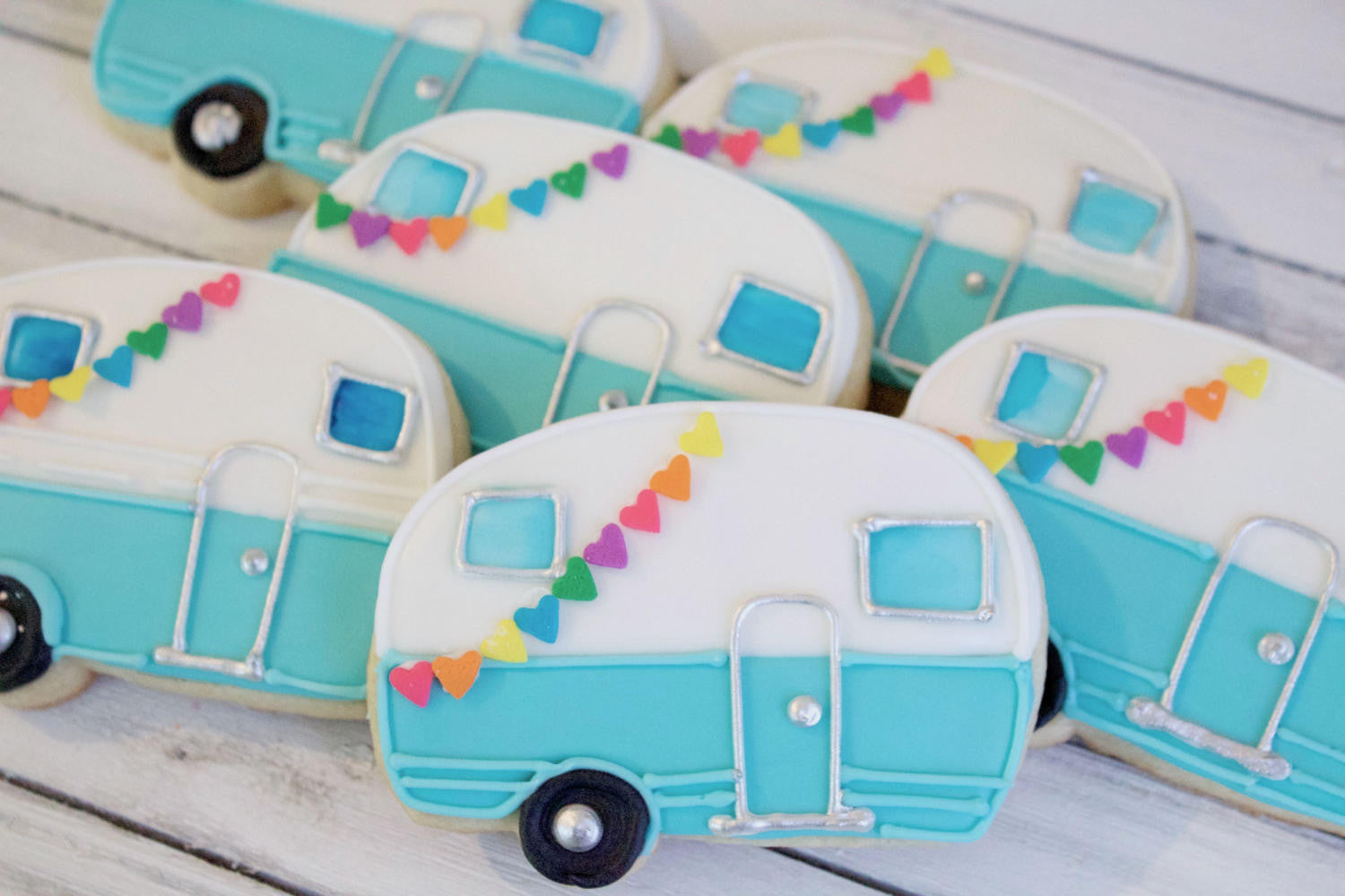 Summer Happy Camper Sugar Cookies
