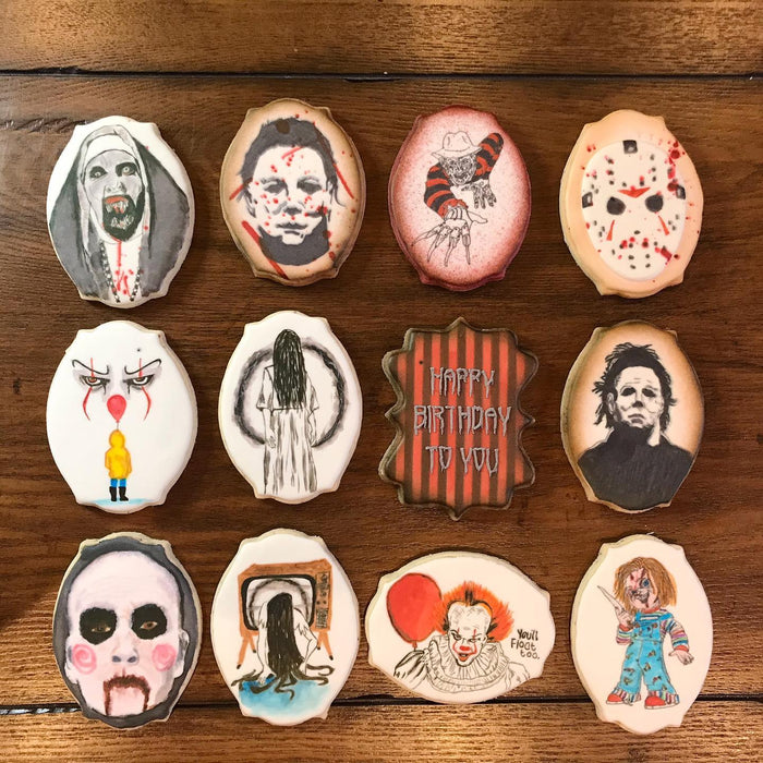 Horror Movies Halloween Iced Sugar Cookies