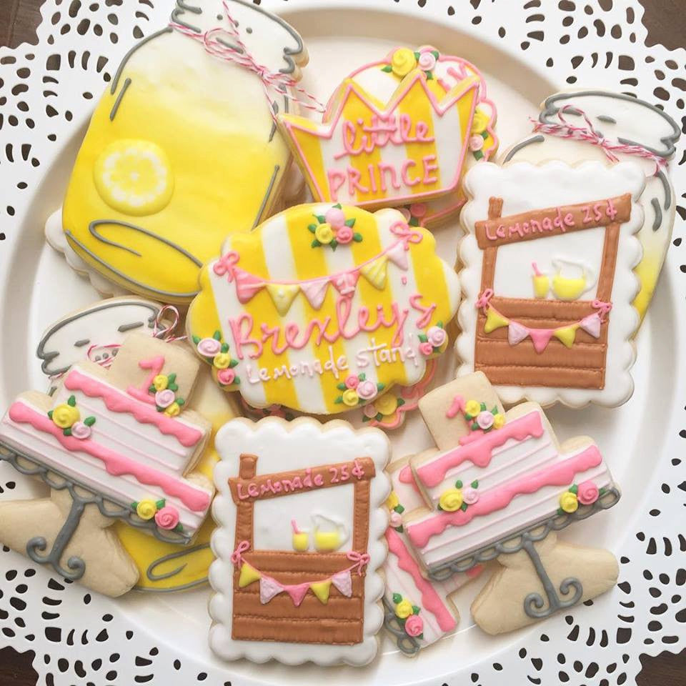 Sweet Lemonade Stand Birthday Party Sugar Cookies